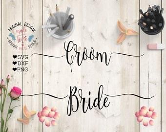 bride svg, groom svg, bride dxf, groom dxf, bride iron on, groom iron on, bride cutting file, groom cutting file, bride groom svg, wedding