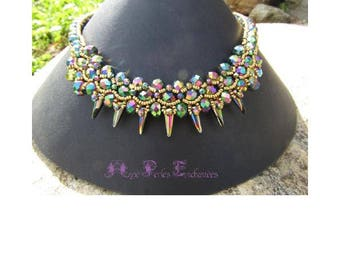 Beaded Spiky necklace tutorial