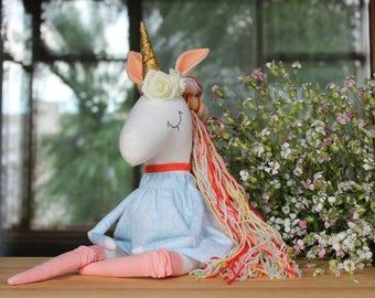Unicorn Maya- Ready to Ship-Nursery Decor- Unicorn Party -Rainbow Unicorn-Stuffed Unicorn toy-Bithday gift-Unicorn Doll-Unicorn Toy