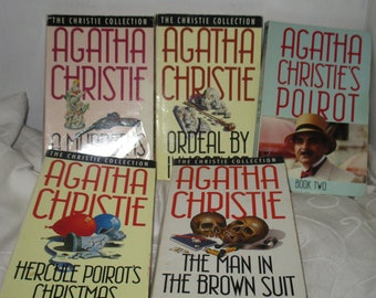 Agatha Christie Collection of Five Books - Poirot and Miss Marple (1990)