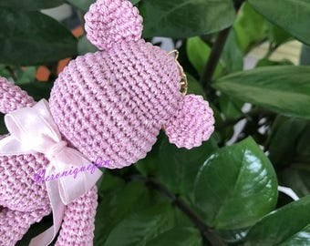 Crochet Bear in Pink