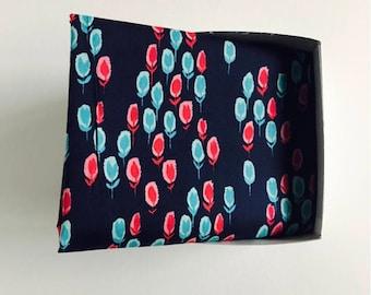 Furoshiki wrapping cloth /  Hatbox Soft Blue Design
