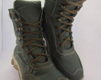 Army Tactic Boots Olive Coyote Comfort Leather and Cordura Combat Military shoes