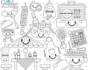 75%OFF - bbq Stamp, COMMERCIAL USE, Digi Stamp, Digital Image, Party Digistamp, bbq Coloring Page, Barbecue Stamp, Summer Stamp, Grill Stamp