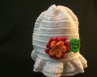 Flowered Hat for Baby