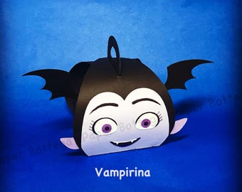 Vampire Girl party decoration/  favor boxes (Small size)