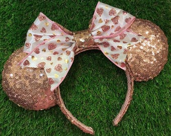 Heart Bow Rose Gold Ears