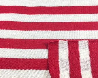 Cotton Striped Jersey Knit Fabric (Wholesale Price Available By the Bolt) USA Made Premium Quality - 5568Y 1 Yard