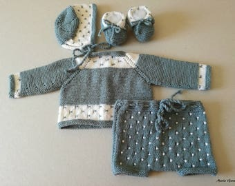 Handmade Baby Knit Set
