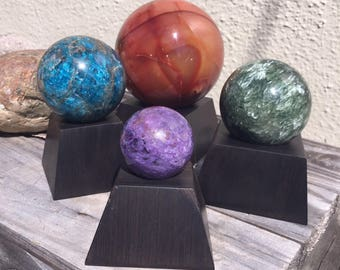 African Blackwood Sphere Stands