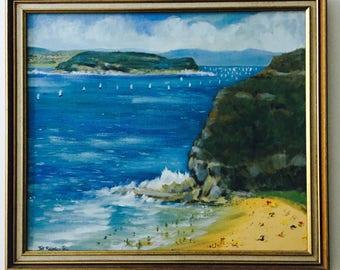 Vintage original Painting Australian Beach scene