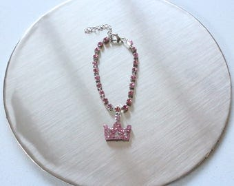 Crown necklace / Rhinestone necklace / Crystal necklace for rabbits small pets