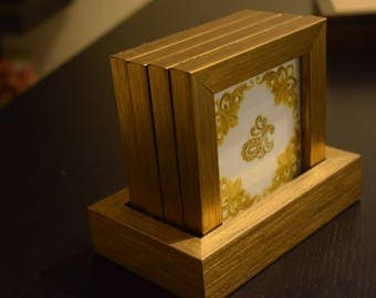 Set of Gorgeous Coasters and holder