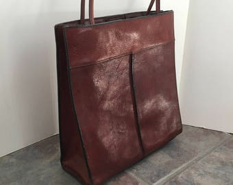 Vintage Wilson's Brown Leather Purse Pelle Studio Italian Leather