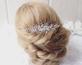 Bridal hair comb,Crystals Bridal Wedding, Headband,Hairpiece Bridal Hair Vine,Wedding hair-vine,pearl hair vine 229