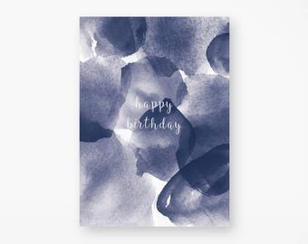 "Postcard ""happy birthday"" Watercolor"