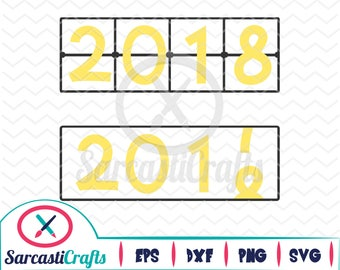 New Years Countdown - Digital download - svg - eps - png - dxf - Cricut - Cameo - Files for cutting machine