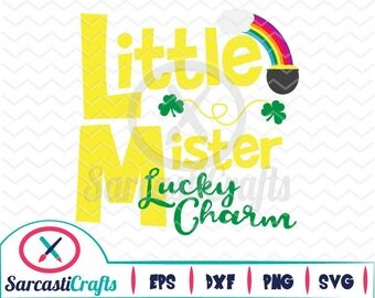 Little Mister Lucky Charm - Saint Patrick's Day - Digital download - svg - eps - png - dxf - Cricut - Cameo - Files for cutting machines