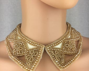 1950s Faux Pearl Collar