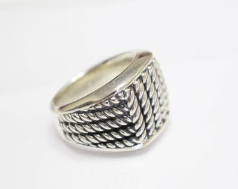 vintage used david yurman mens sterling silver ring size 10 - David Yurman Mens Wedding Rings