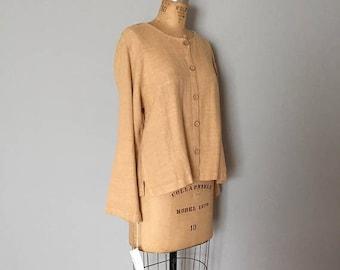20% OFF SALE... rich wheat linen pantsuit | linen jacket and pants set | linen tunic and pants