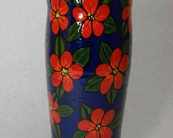 Tall Vase Red Flowers(Item#88)
