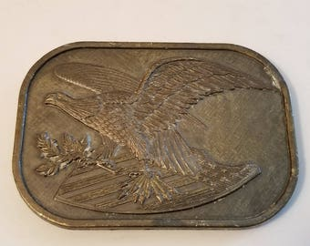 Vintage American Eagle Solid Brass BELT BUCKLE