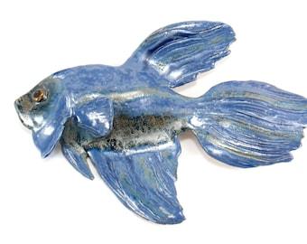 Ceramic fish, Fish on the wall,  hanging fish, Ceramic decor on the wall,  Fish dekor, nautical home decor, ceramic fish art, Fish of clay,