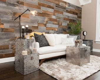 "5 1/4"" Wide X 12"", 24"" & 36"" Long Weathered Accent Wall Planks, Reclaimed Barn Wood Siding, Project Wood, Craft Wood, Amazing Patina"