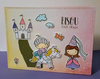 Birthday card, princess card, handmade card, girl card, happy birthday card, greetings card