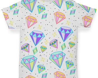 Diamonds And Gems Pattern Baby Toddler Novelty ALL-OVER PRINT Baby T-shirt