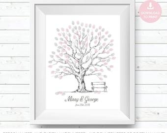 wedding tree, tree guest book, wedding guest tree, wedding guest book, wedding guestbook, fingerprint tree, guest book tree wedding print
