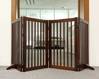 Wood Freestanding Pet Gate , 72-Inch CHERRY WSV815-720&002 CHY