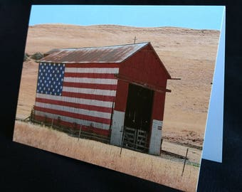 Barn Flag Card
