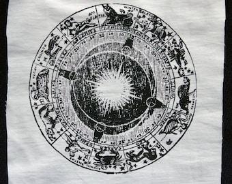 Screenprinted Horoscope  Zodiac patch