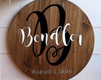 Personalized Last Name Sign,Last Name Sign, Established Sign, Last Name Wood Sign, Anniversary Gift, Wooden Family Sign, Living Room Decor