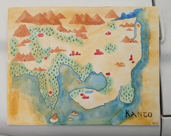 Kanto Watercolor Map