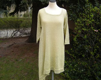 Tunic, dress, knitted tunic, asymmetry, size 42-44.