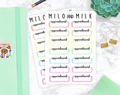 Appointment Box, Rainbow | Planner Stickers | Erin Condren + Happy Planner Compatible