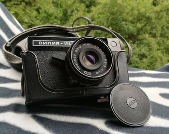 Vintage Camera Photo camera Soviet Camera Working Vintage Soviet 35mm Camera Photo Equipment Leather Camera Case