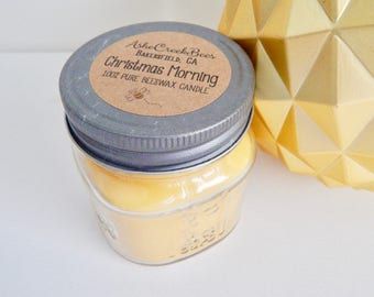 Christmas Morning Scented 100% Pure Filtered Beeswax Candle