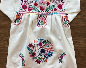 Handmade girls mexican dress sz 2