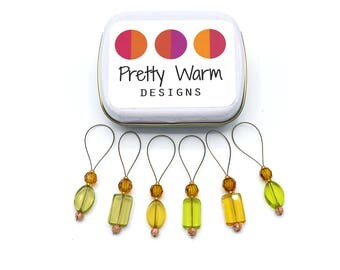 Stitchmarkers - Stitch Markers - Snag Free Stitch Markers - Progress Keepers - Knitting Notions - Beaded Stitch Markers - Gift for Knitters
