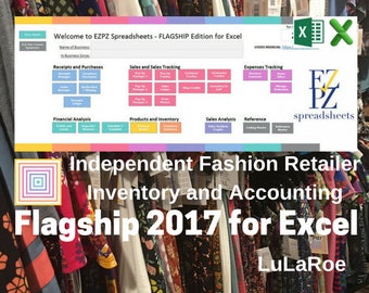 2017 Flagship Version for Excel - Inventory and Accounting for LuLaRoe Fashion Retailers