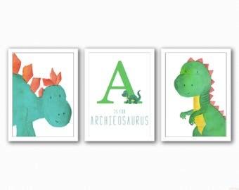Dinosaur Trio Prints  - Kids Bedroom
