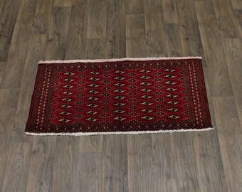 Nice Small Entrance Handmade Tribal Turkoman Persia Rug Oriental Area Carpet 2X4