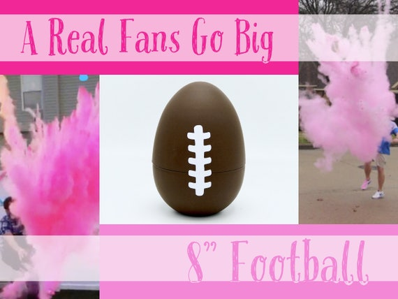 "8"" FOOTBALLS Gender Reveal Football with 8x Powder!!!!"