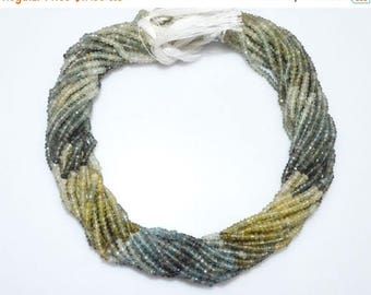 """50% OFF Shaded Moss Aquamarine Faceted Rondelle Beads , Moss Aquamarine Faceted Rondelle Beads , 3 mm ,13"""" - MC250B"""
