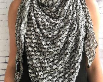 Triangle scarf, scarf