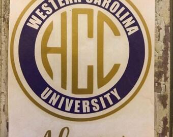 Western Carolina University Alumni Decal